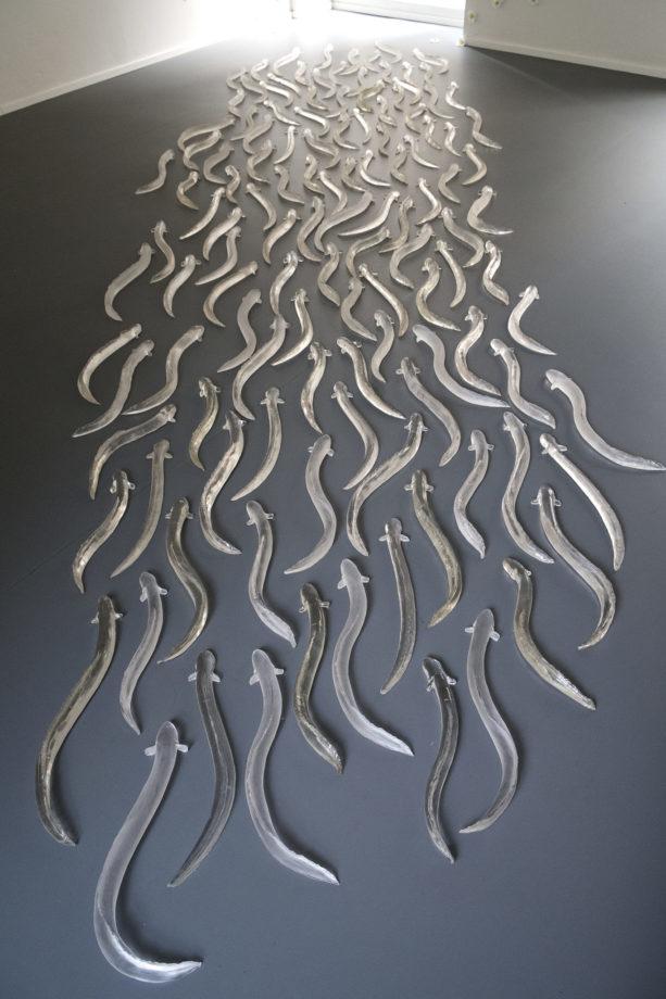 Jessica Carroll La via dei Sargassi, 2010 resina poliuretanica cm 40 x 30 x 4 (150 elementi ca)