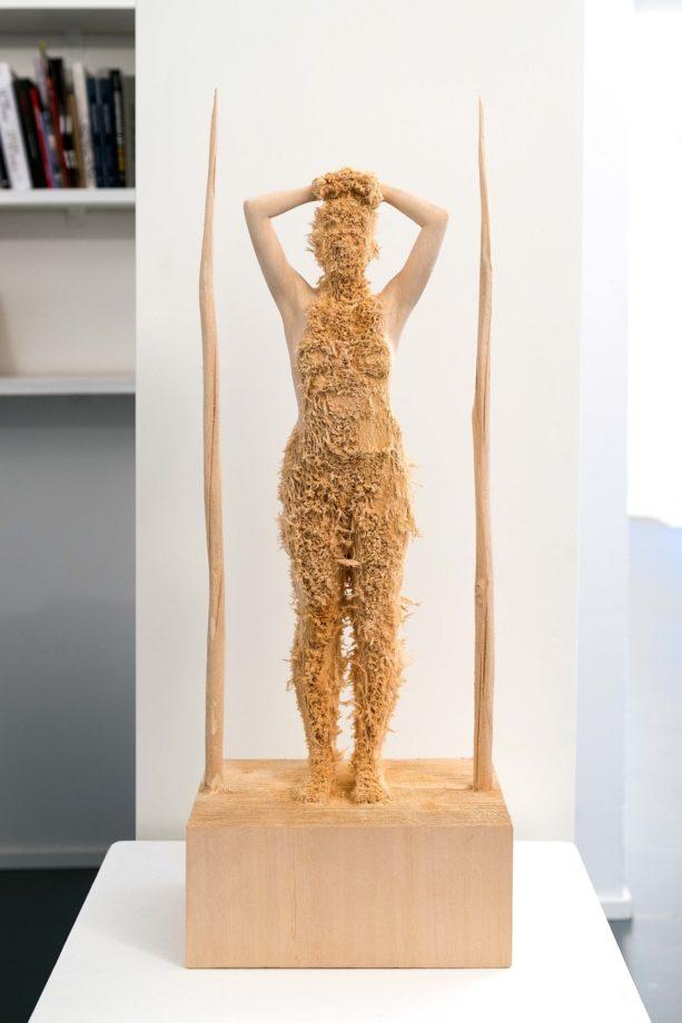 ARON DEMETZ UTITLED, 2016 legno di tiglio 62 x 26 x 16 cm