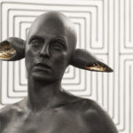Domenico Borrelli Arianna - zero gradi, 2014 bronzo168x60x35cm corda misura ambiente