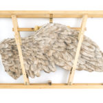 Daniele Accossato. Stoled Freedom, 2017. Jesmonite, legno, pigmenti. cm 140x30x80