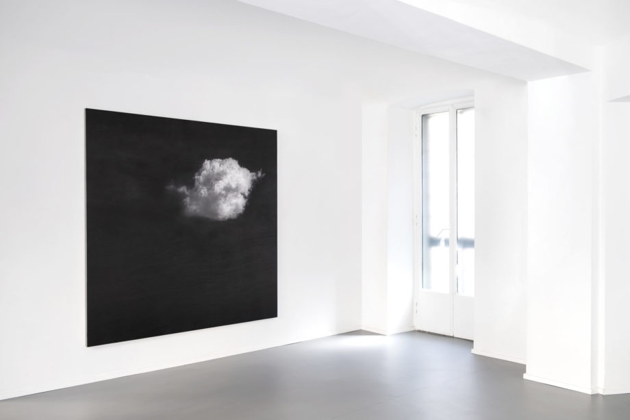 Nuvole sole, 2017 matita su legno cm 200 x 200