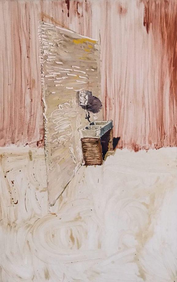 Peter Schmersal, Boiler, Spüle, 2007, olio su tela, cm 200 x 130