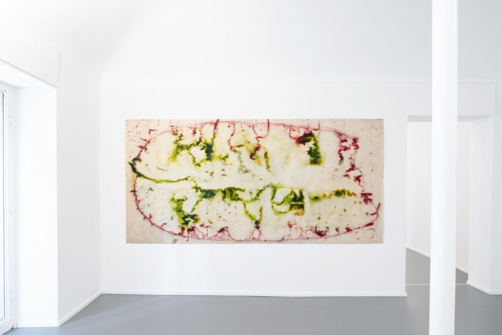 Salvatore Astore, Anatomia Vascolare, 1986-87. Vernice industriale su carta lucida, cm 322 x 155
