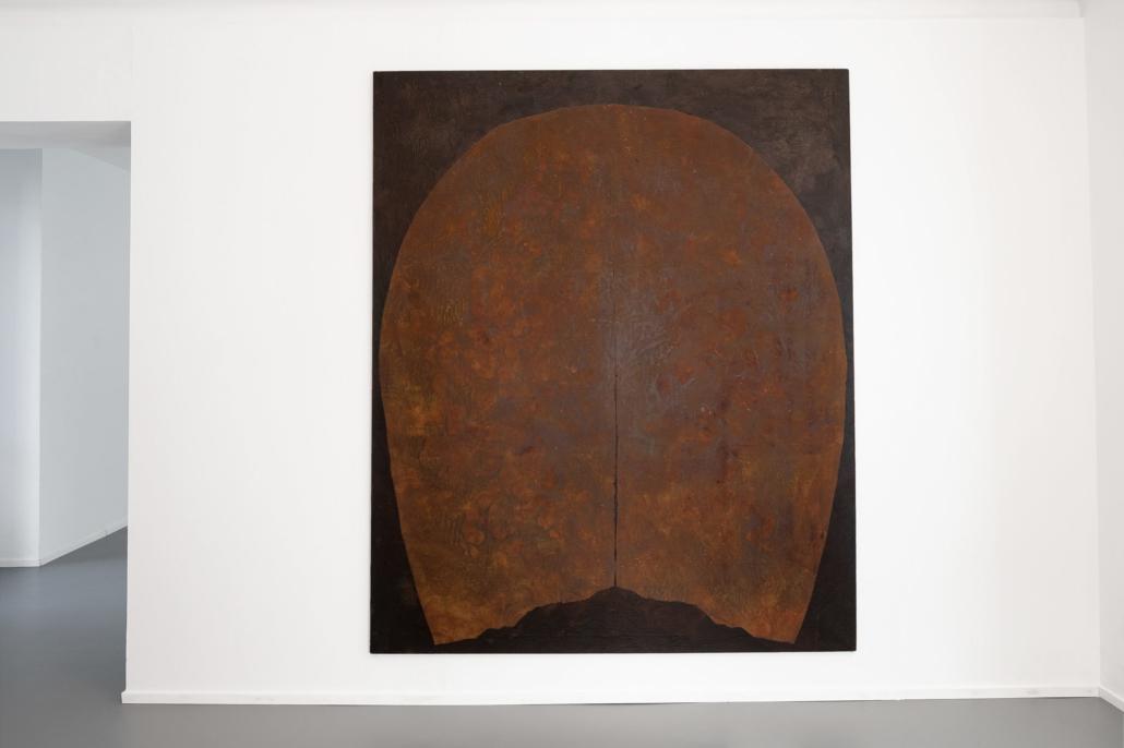 Salvatore Astore, Cranio, 1985. Tecnica mista su tela, cm 190 x 230