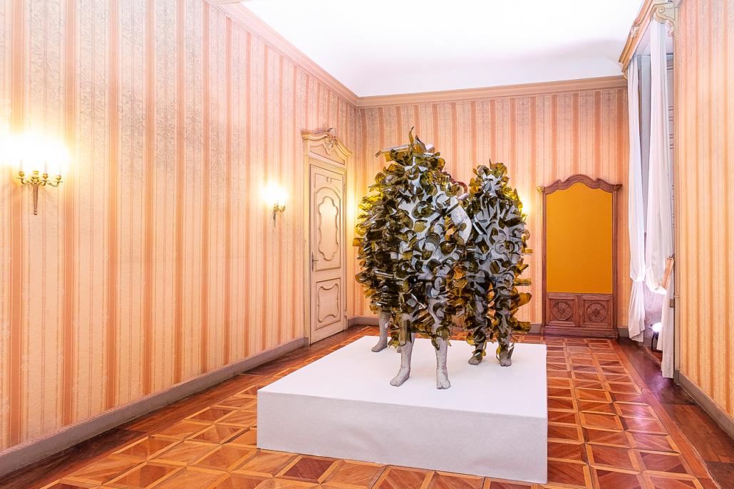 Paolo Grassino, Invalicabile, 2012 - vetro e cemento, tre elementi da 200 x 80 x 80 cm